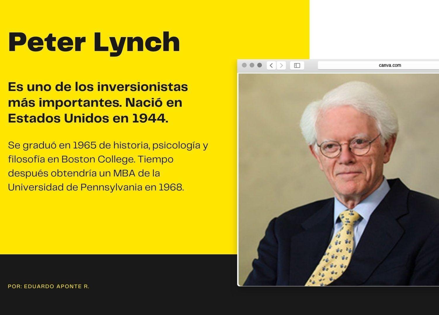 Peter Lynch – Perfil Inversionista